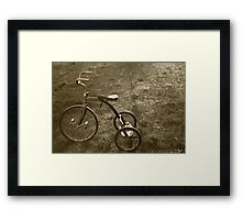 Antique Tricycle.... Framed Print