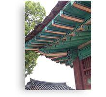 Ancient Korean Rooftop Canvas Print
