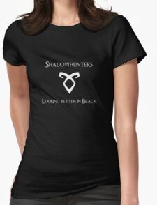 Looking better in black Womens Fitted T-Shirt