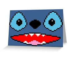 PIXEL - Stitch face Greeting Card