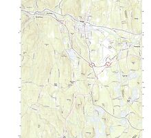 Massachusetts  USGS Historical Topo Map MA Orange 20120606 TM by wetdryvac