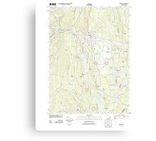 Massachusetts  USGS Historical Topo Map MA Orange 20120606 TM Canvas Print