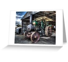 Steam Tractor Greeting Card