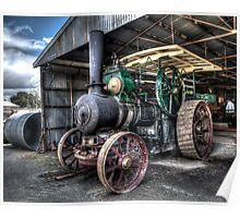 Steam Tractor Poster
