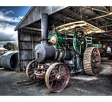 Steam Tractor Photographic Print