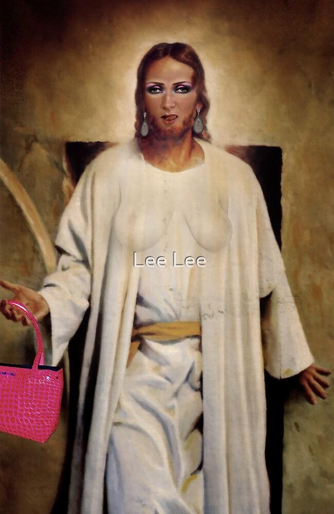 Jesus with handbag by Lee Lee