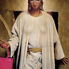 Jesus with handbag by Lee Lee