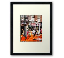 Guess Who Found the Camera Shop. Framed Print