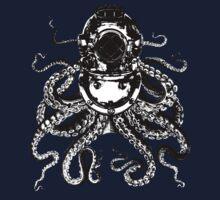 Octopus in a diving helmet One Piece - Long Sleeve
