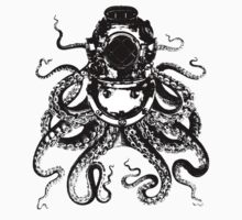 Octopus in a diving helmet Kids Tee