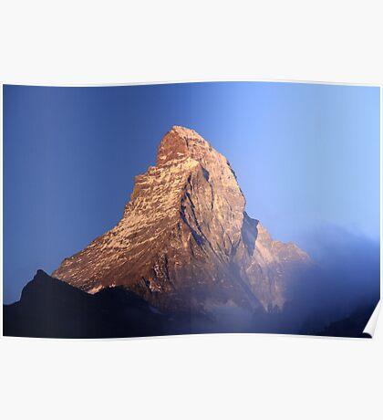 The Matterhorn in the Morning Poster