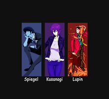 cowboy bebop ghost in the shell lupin the 3rd spike spiegel motoko kusanagi anime manga shirt Unisex T-Shirt