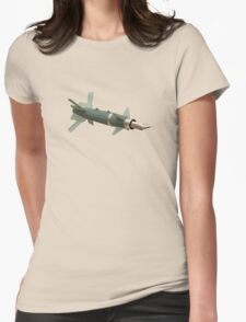 sky writing  Womens Fitted T-Shirt
