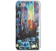 Blue London traffic  iPhone Case/Skin