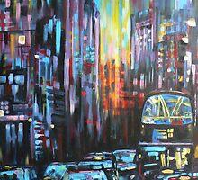 Blue London traffic  by SM-artman