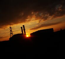 Power Station at sunset - Spalding Lincs by peckjam23