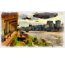 UFOs up River by Raphael Terra Photographic Print