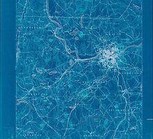 Massachusetts  USGS Historical Topo Map MA Lowell 352810 1893 62500 Inverted by wetdryvac