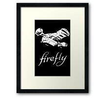 Firefly with logo and flying Serenity Framed Print