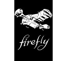Firefly with logo and flying Serenity Photographic Print
