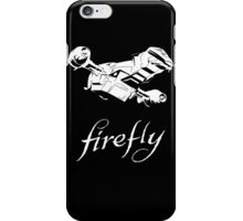 Firefly with logo and flying Serenity iPhone Case/Skin
