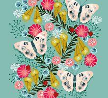 Buckeye Butterly Florals by Andrea Lauren  by Andrea Lauren