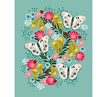 Buckeye Butterly Florals by Andrea Lauren  Photographic Print