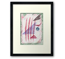 Abstract Fred Framed Print