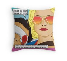 True Romance Comic Book Style Throw Pillow