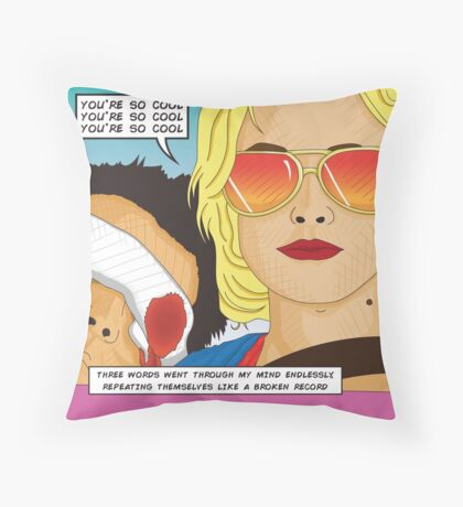 True Romance Comic Book Style Throw Pillow