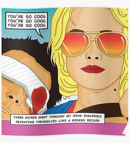True Romance Comic Book Style Poster