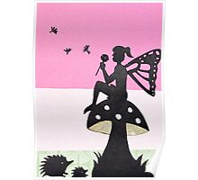 Fairy with Thistle Poster