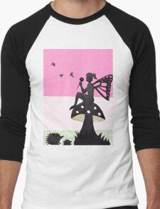 Fairy with Thistle Men's Baseball ¾ T-Shirt