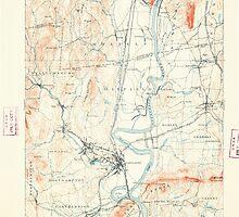 Massachusetts  USGS Historical Topo Map MA Northampton 352905 1895 62500 by wetdryvac