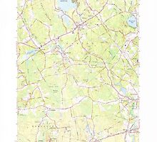 Massachusetts  USGS Historical Topo Map MA Norton 350405 1964 24000 by wetdryvac