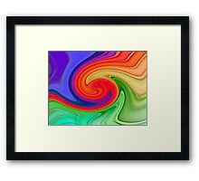 Raspberry Ripple Framed Print