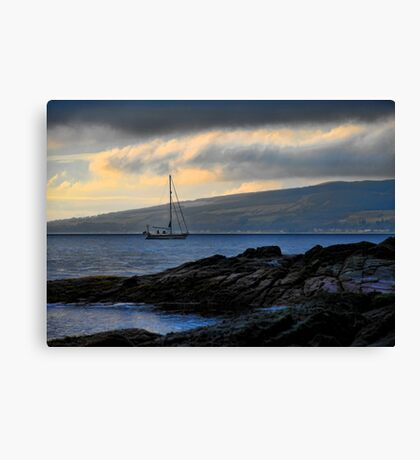 Sailing in the Dark Canvas Print