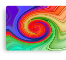 Ying Yang Rainbow Canvas Print