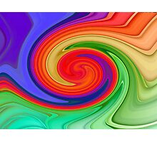 Ying Yang Rainbow Photographic Print