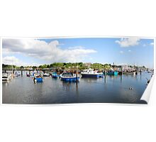 Panoramic of Lymington Harbour Hampshire Poster