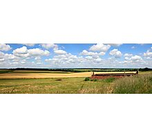 Panoramic landscape of Dorset England Photographic Print
