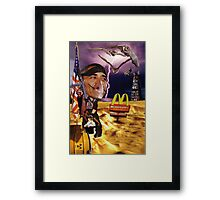 """Holy Calamity......Captain America"" Framed Print"