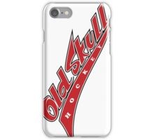 Old Skull Hockey Vintage Logotype iPhone Case/Skin
