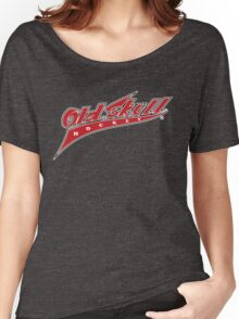 Old Skull Hockey Vintage Logotype Women's Relaxed Fit T-Shirt