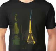 Interpretation Of The Eiffel Tower In Paris Unisex T-Shirt