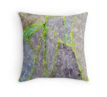 Chartreuse Mountain Zone Throw Pillow