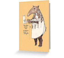 Tea time starts now - Malayan Tapir  Greeting Card
