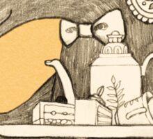 Tea time starts now - Malayan Tapir  Sticker