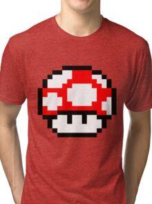 PIXEL - Super mushroom Tri-blend T-Shirt