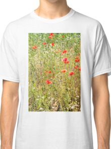 Red Poppies and Wild Flowers Classic T-Shirt